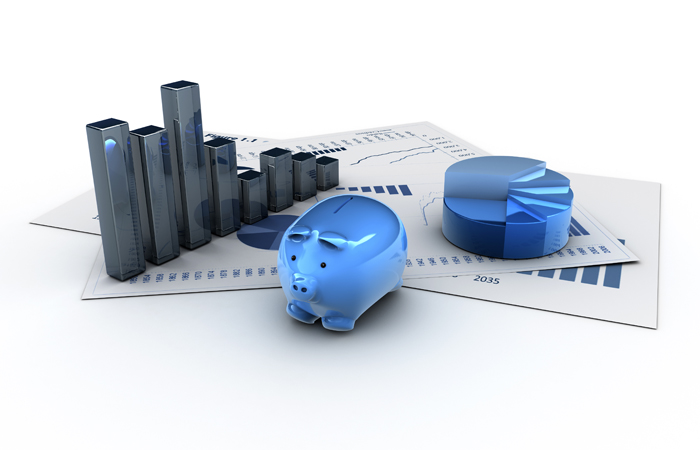 Graphics isolated 3d financial analysis